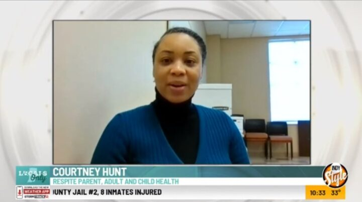 Courtney Hunt appears on WISH-TV's Indy Style program.